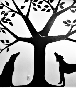 photo of tree of life fundraising tree wall sculpture at greyhound friends